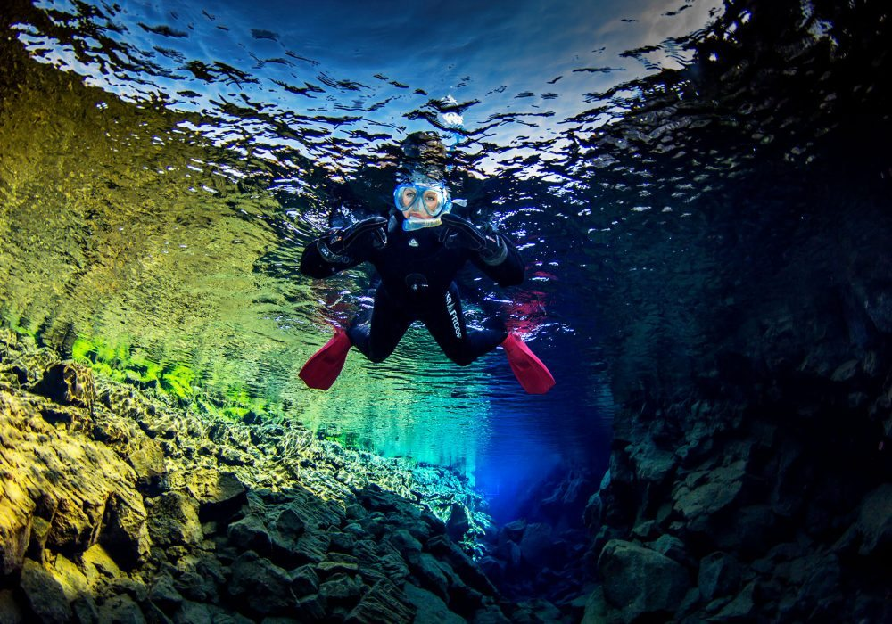 Snorkeling tour in Silfra Fissure in Iceland