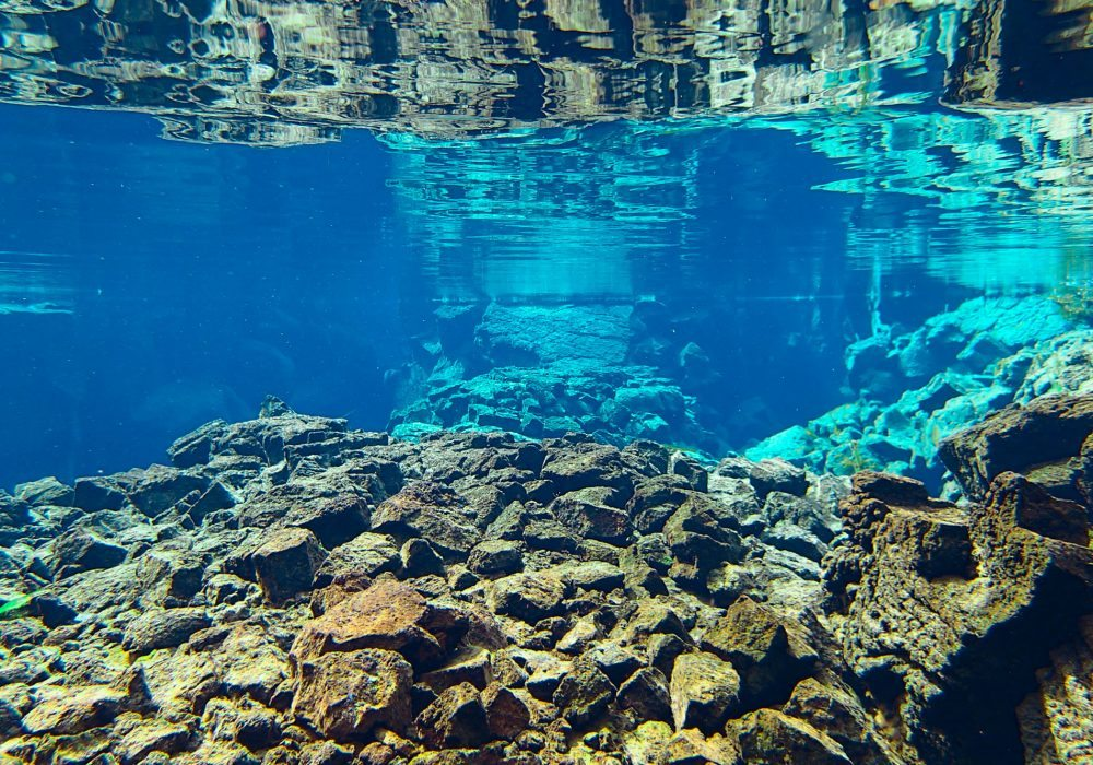 Excellent visibility in Silfra Fissure