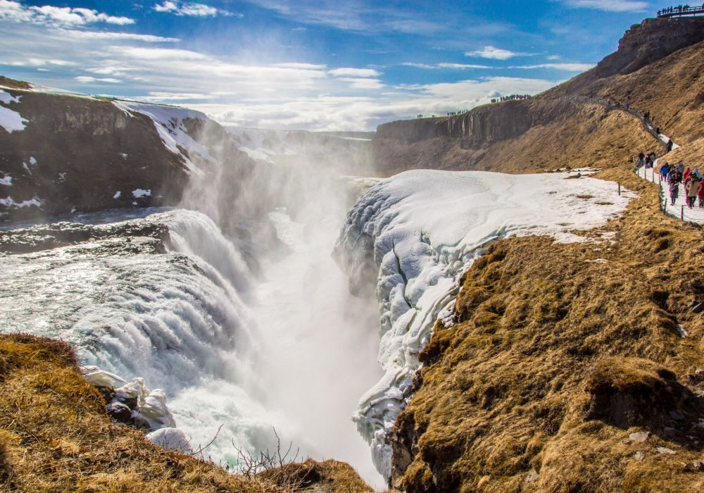 Gullfoss Waterfall on Golden Circle tour in Iceland